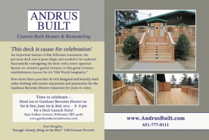 Andrus Built - Deck Project Feature
